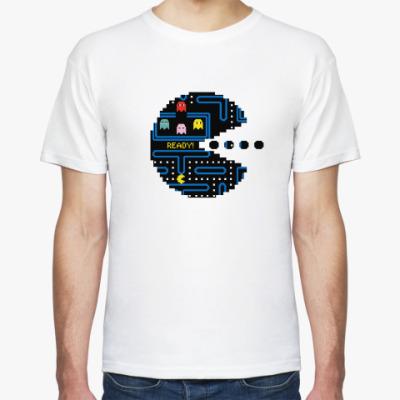 Футболка Pac-Man. PacMan. ПакМан. ПакМен. Pixels. Ready!