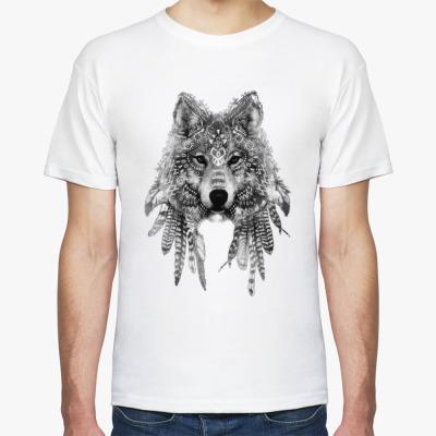 Футболка Тотем волка.Wolf Totem