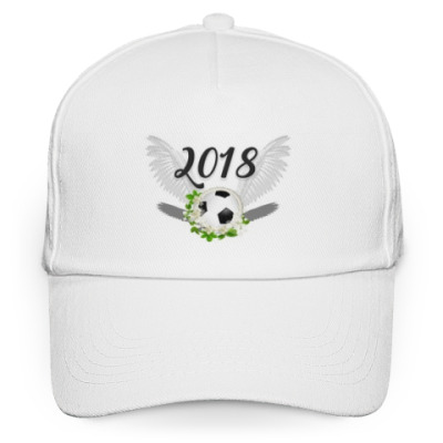 Кепка бейсболка Футбольный мяч с цветами 2018