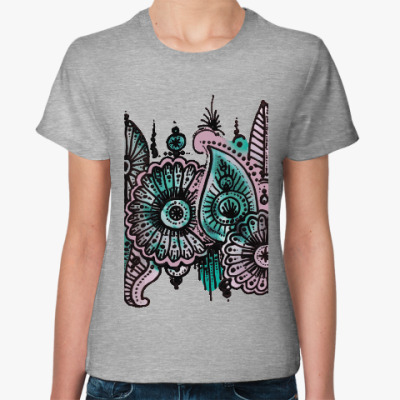 Женская футболка Ракушки со дна моря
