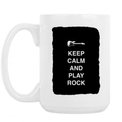 Кружка Keep calm and play rock
