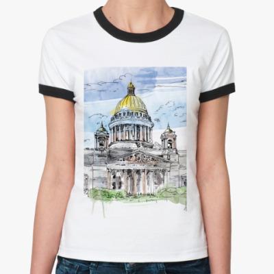 Женская футболка Ringer-T Исаакиевский собор