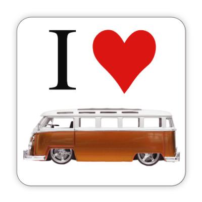 Костер (подставка под кружку) I Love Bus