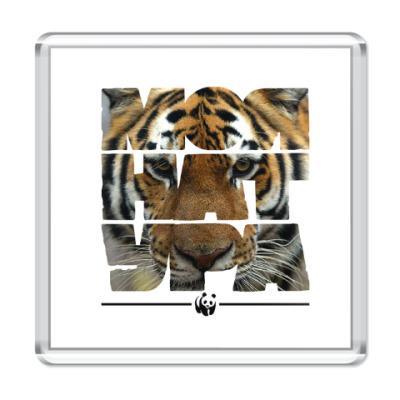 Магнит WWF. Моя натура - Тигр!
