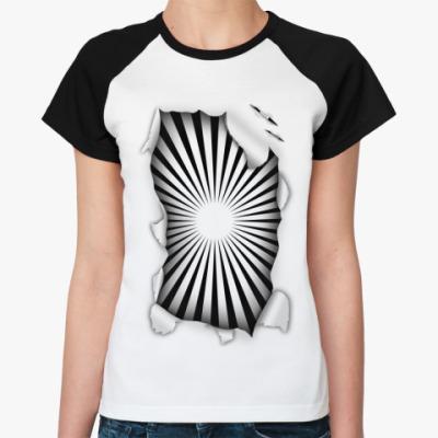 Женская футболка реглан Гипноз