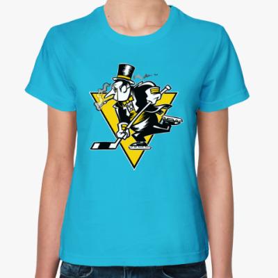 Женская футболка Go Penguins