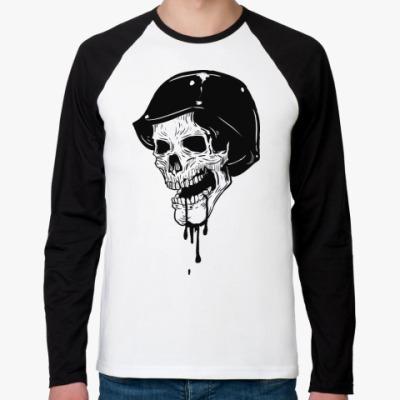 Футболка реглан с длинным рукавом Skull