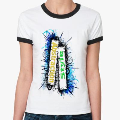 Женская футболка Ringer-T Abstyle