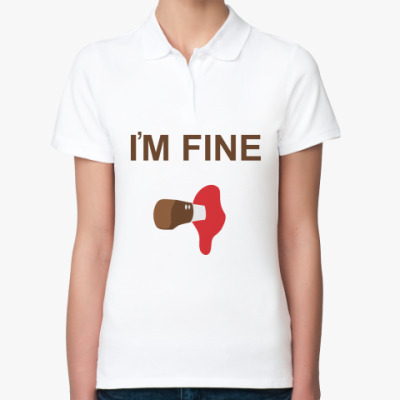 Женская рубашка поло I'm Fine