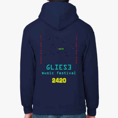 Толстовка худи I love Gliese 832c