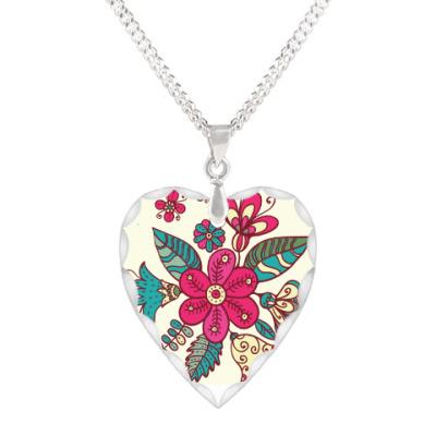 Кулон 'сердце' Цветы