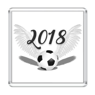 Магнит Футбольный мяч с крыльями 2018