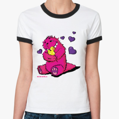 Женская футболка Ringer-T BestIdol