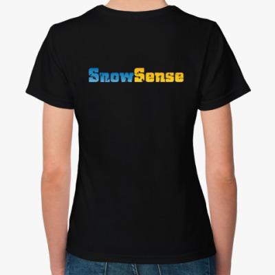Женская футболка с лого (с двух сторон)
