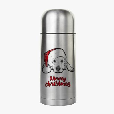 Термос Собака Санта