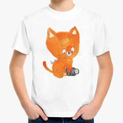 Детская футболка рыжий котенок