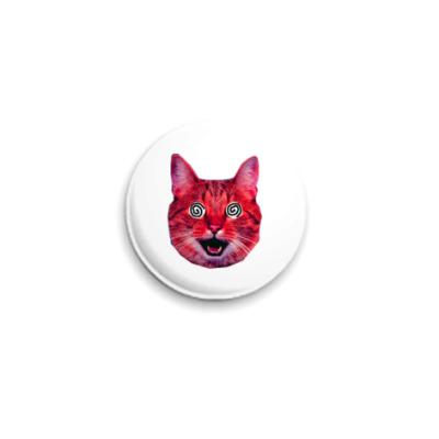 Значок 25мм  «Red cat»