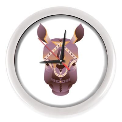 Настенные часы Геометрический носорог