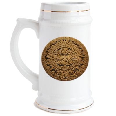 Пивная кружка Солнце ацтеков