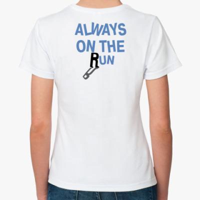 Классическая футболка Always on the run
