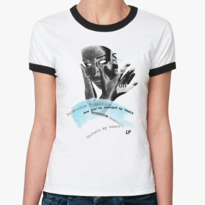 Женская футболка Ringer-T Suspicion M