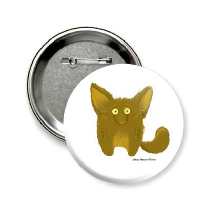 Значок 58мм  'Загорелый кот'