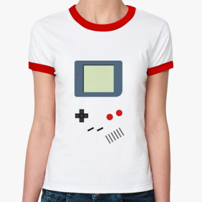 Женская футболка Ringer-T   GameBoy
