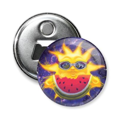 Магнит-открывашка Солнечный арбуз