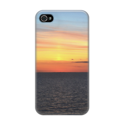 Чехол для iPhone 4/4s Закатное море | Sunset sea