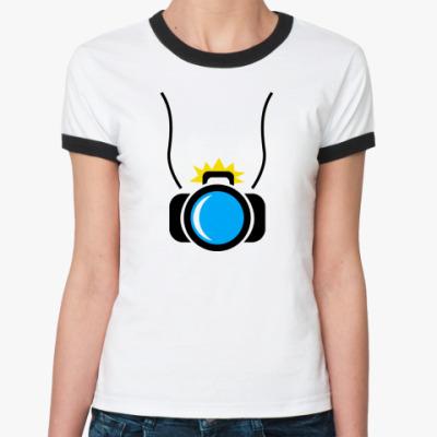 Женская футболка Ringer-T фотик