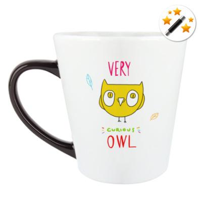 Кружка-хамелеон Curious owl