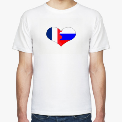 Футболка Россия-Франция