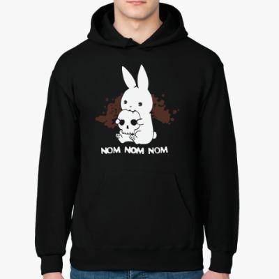 Толстовка худи Кролик кушает мозги