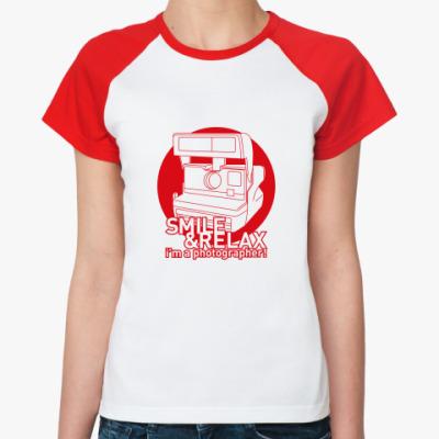 Женская футболка реглан  Smile & Relax