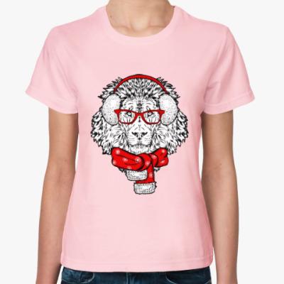 Женская футболка Лев