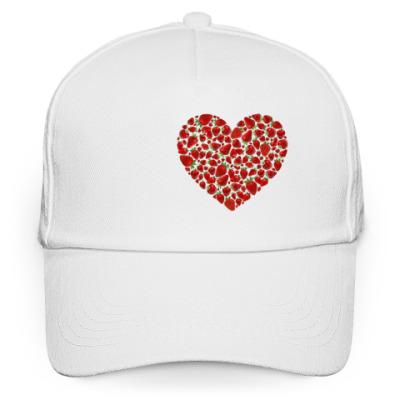 Кепка бейсболка Клубничное сердечко