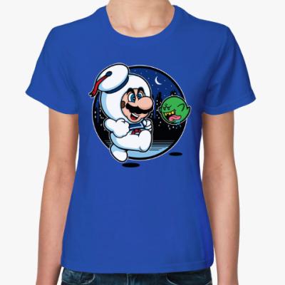Женская футболка Зефирный человек (Охотники за Привидениями)