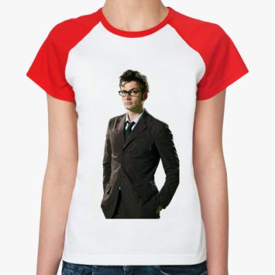 Женская футболка реглан David Tennant