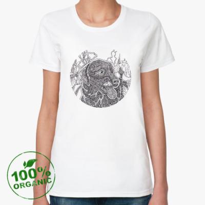 Женская футболка из органик-хлопка Лабрадор