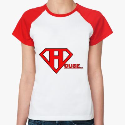 Женская футболка реглан SuperHouse