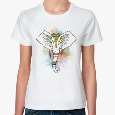 Классическая футболка Индийский слон