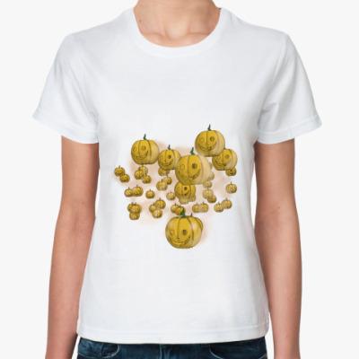 Классическая футболка Весёлый хэллоуин