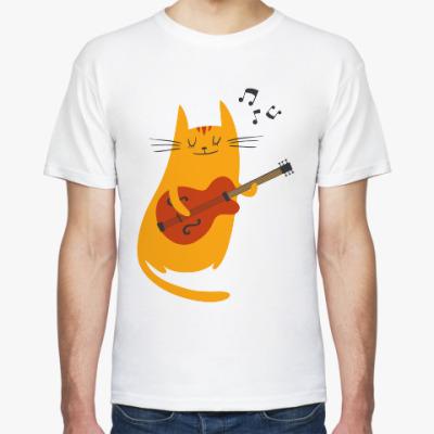 Футболка Кот с гитарой