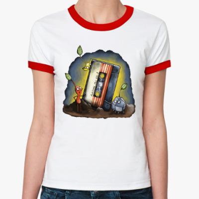 Женская футболка Ringer-T Кассета - стражи галактики