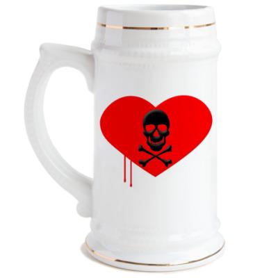 Пивная кружка Love and Death
