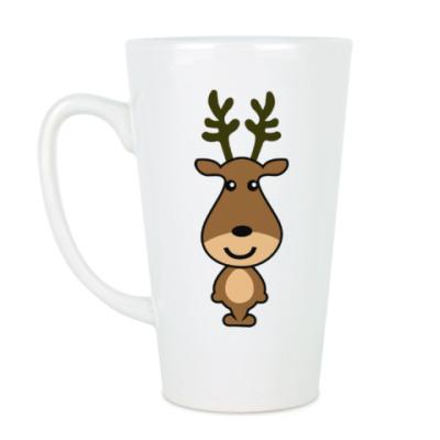 Чашка Латте Олень