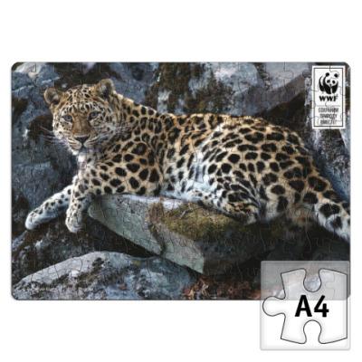 Пазл WWF. А4. Леопард. 120 эл.