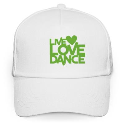 Кепка бейсболка Live Love Dance