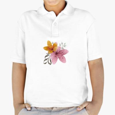 Детская рубашка поло Я люблю цветы