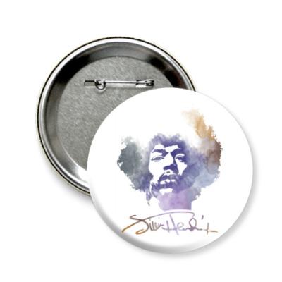 Значок 58мм  Jimi Hendrix - Джими Хендрикс